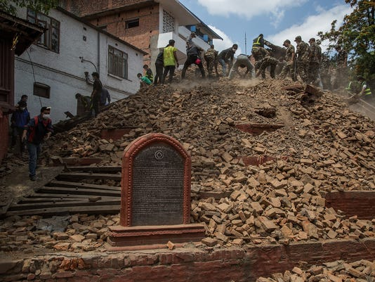 BESTPIX Death Toll Rises Following Powerful Earthquake In Nepal