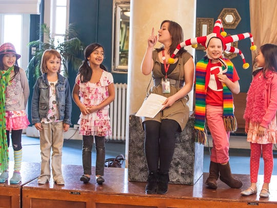 Willamette University graduate Joellen Sweeney presents a lesson to her students at the Northwest Children's Theatre and School in Portland.