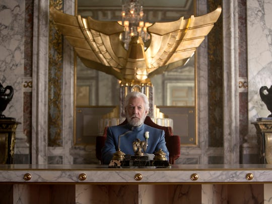 "Donald Sutherland stars in ""Hunger Games: Mockingjay Part I."""