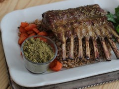 Honey za'atar glazed rack of lamb: Recipe