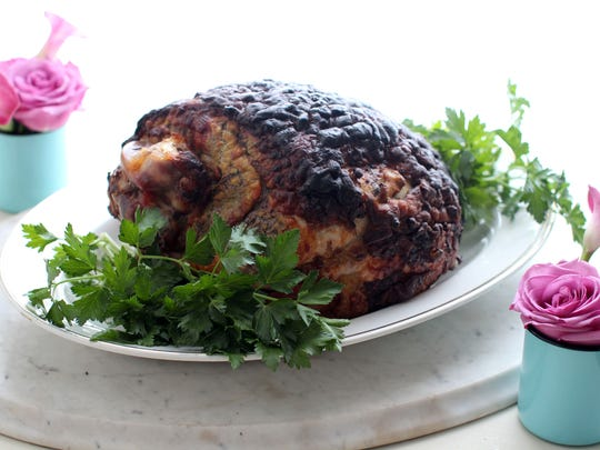 """Grandma Odom's fresh ham with cloves and brown sugar was made using a """"green"""" ham."""