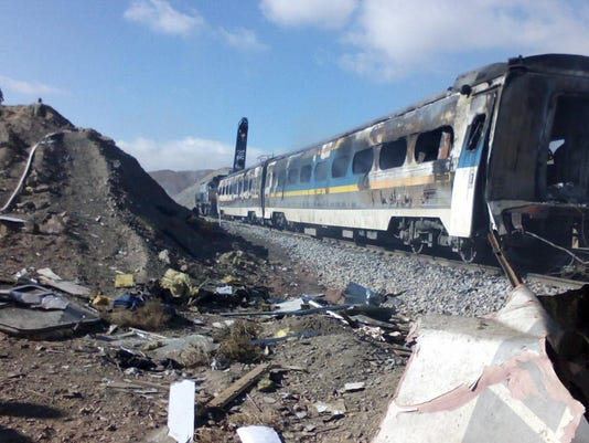 Mideast Iran Train Collision