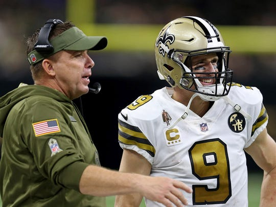 New Orleans Saints head coach Sean Payton and quarterback Drew Brees.