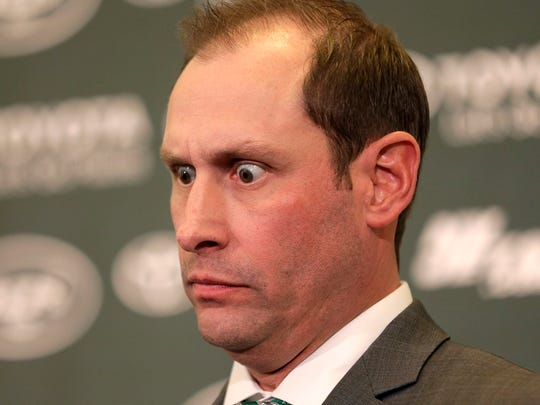 New York Jets head coach Adam Gase speaks during a news conference in Florham Park, N.J., Monday, Jan. 14, 2019. (AP Photo/Seth Wenig) ORG XMIT: NJSW110