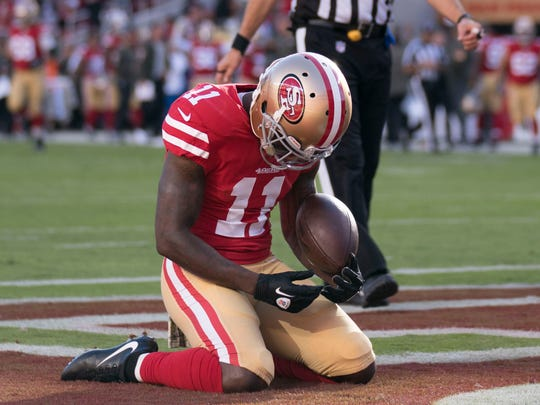 buy online 1d03f 600f5 Odell Beckham Jr. shares in 49ers' Marquise Goodwin's ...