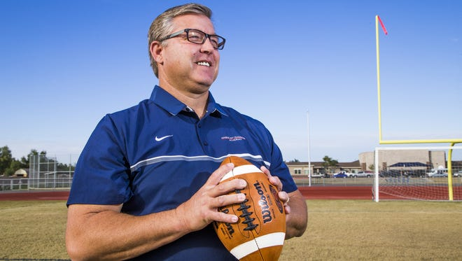 Queen Creek American Leadership Academy football coach Rich Edwards is the Arizona Sports Awards, presented by Arby's, Small Schools Football Coach of the Year.