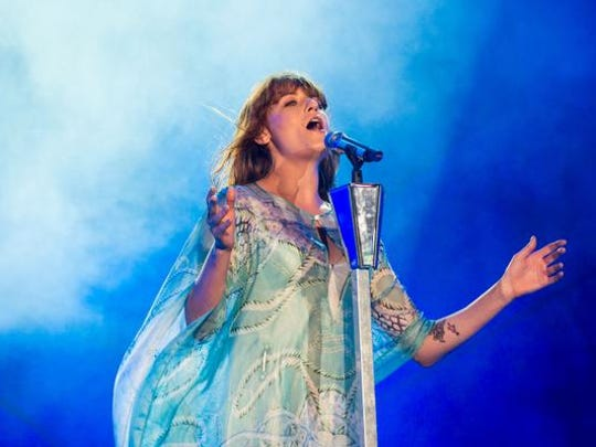 Florence Welch of Florence and the Machine performs.