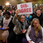 Take a peek at protests at town halls around the country