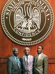 U.S. Circuit Court Judge Carl E. Stewart (from left),