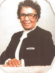 An earlier photo of Gussie Williams Mallory, who died July 16. She was 107 and FAMU's oldest alumna.