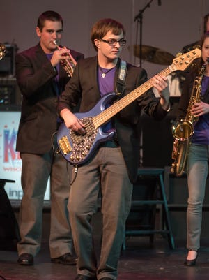 Jack Zondlo was the principal bass player with Kids from Wisconsin this summer.