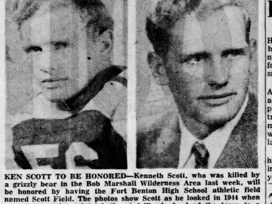 Fort Benton football hero Kenneth Scott was killed