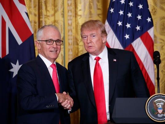 EPA USA AUSTRALIA TRUMP TURNBULL POL GOVERNMENT USA DC