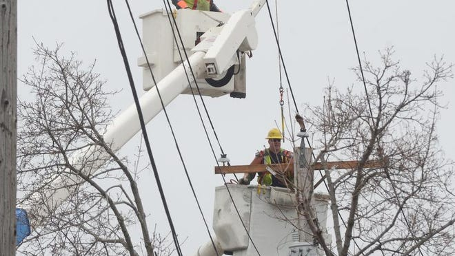 About 2,000 DTE Energy customers are without power in Kimball Township.