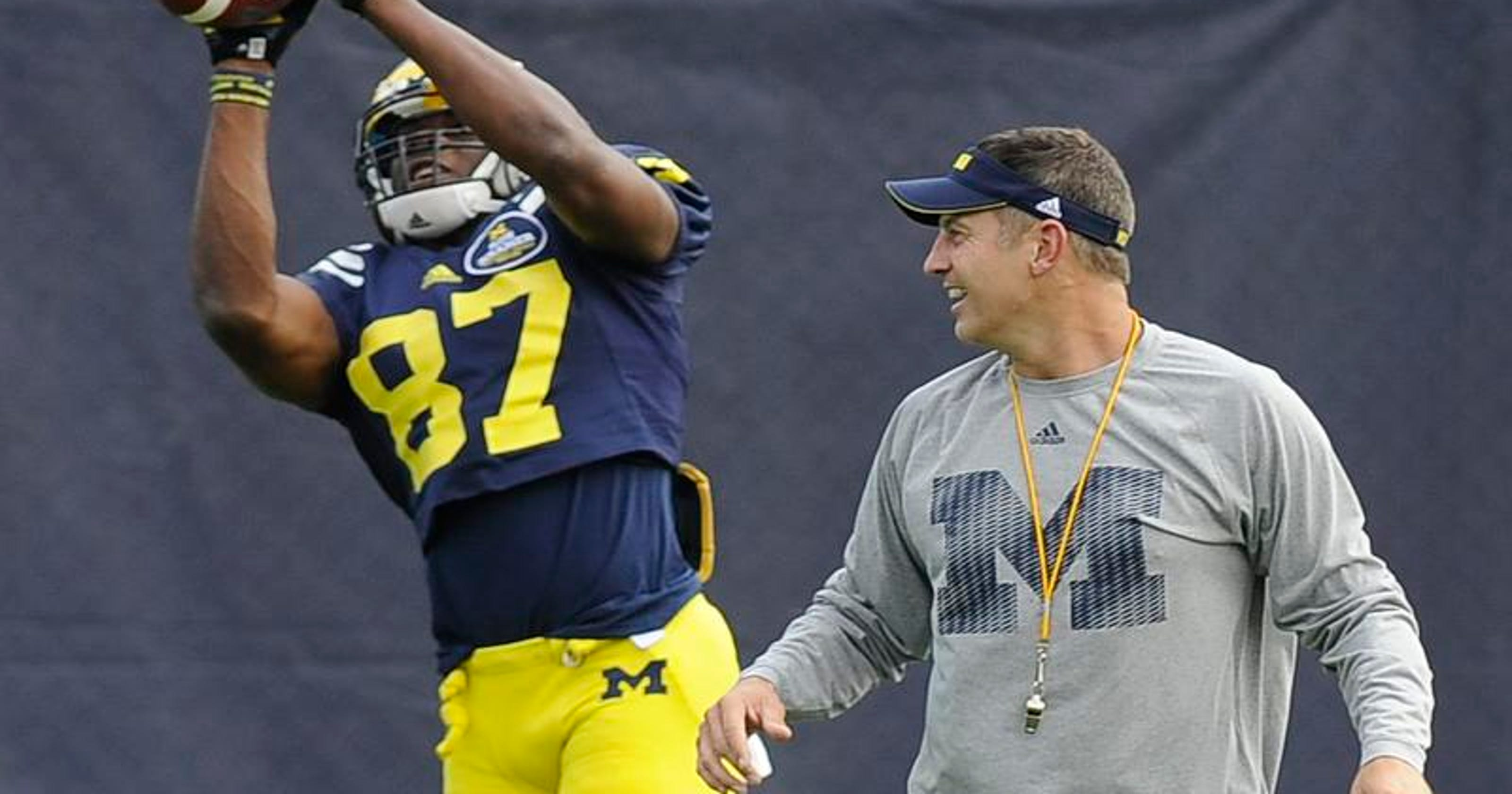 new concept eedd7 3e76a Michigan's Devin Funchess wearing coveted No. 1 jersey