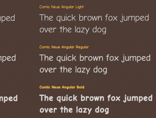 A screenshot of Comic Neue, the revised version of the much-hated Comic Sans font.