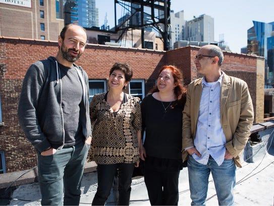Kinan Azmeh, left, Lenore Davis, Dima Orsho, soprano,