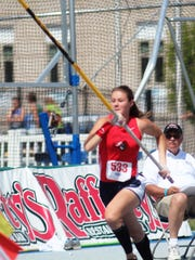 St. Henry's Kim Spritzky set a meet record while winning the pole vault at 11 feet and was runner-up in the long jump and 100 hurdles at the Kentucky Track and Cross Country Coaches Association Area 5 championship.