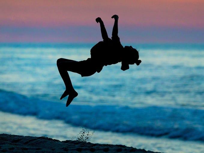 07/03/17Bella Palmiotto practices her gymnastic skills