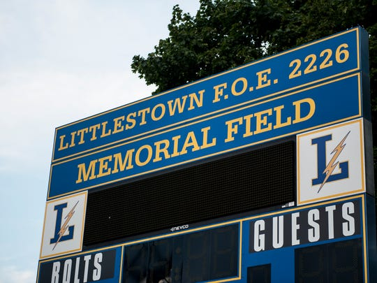 Memorial Field, built in 1948, is home to the Littlestown Thunderbolt's football, baseball, soccer and youth football teams. The school district is currently in the planning and funding stage for a new stadium, with construction slated to begin in January 2018.