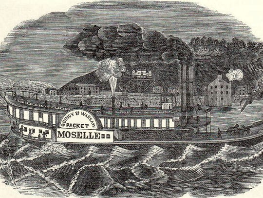 The Moselle was the fastest steamboat on the Ohio River