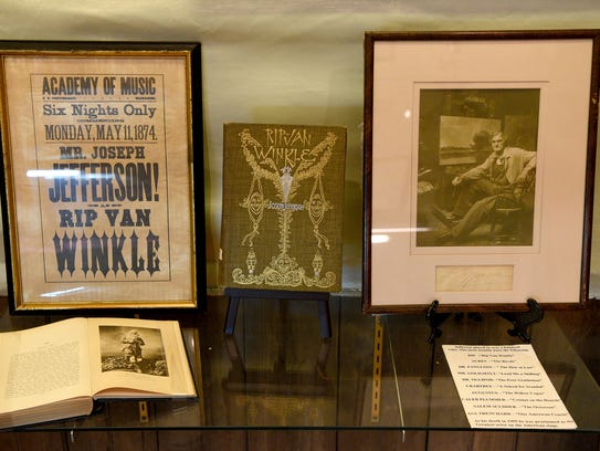 """Playbills and other artifacts on display at """"Step Inside"""