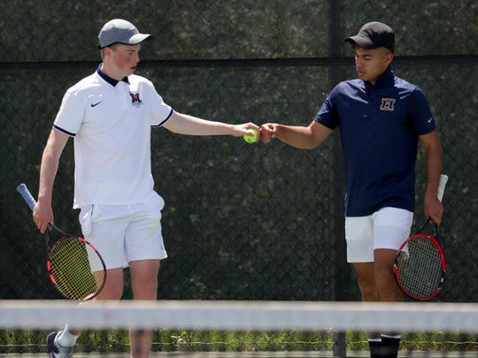 Marquette's doubles team of Noah Guillermo (right) and Rob May is the No. 3 seed in Division 1.