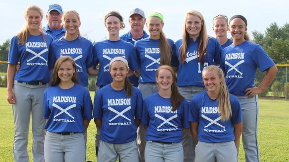The Madison 16U softball team.