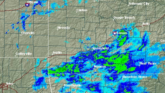 The morning radar from the NWS.