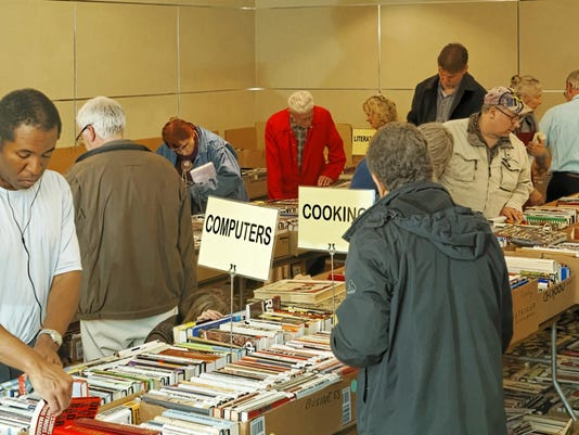 Book Sale - Photo by Carroll DeWeese