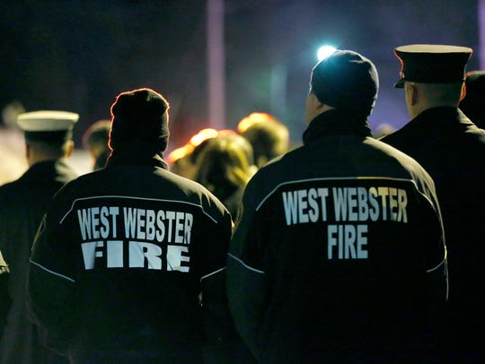 The memorial service for fallen West Webster firefighters