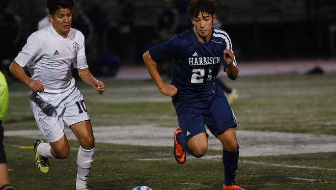 Kalleb Braga (no. 21) of Harrison brings experience to a lineup with eight returning starters.