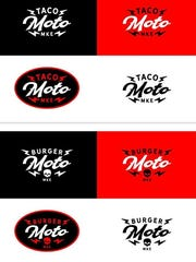 The new logos for Taco Moto and Burger Moto.