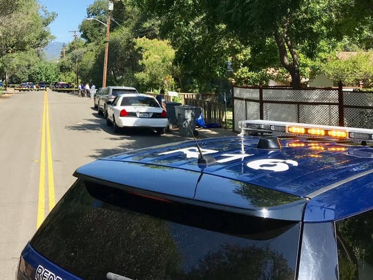Redding police close off Mary Street at 7th Street the morning of July 23, 2018, to investigate an officer-involved shooting. Shasta County District Attorney Stephanie Bridgett announced in a report Thursday that the shooting and wounding of a Las Vegas man was justified.