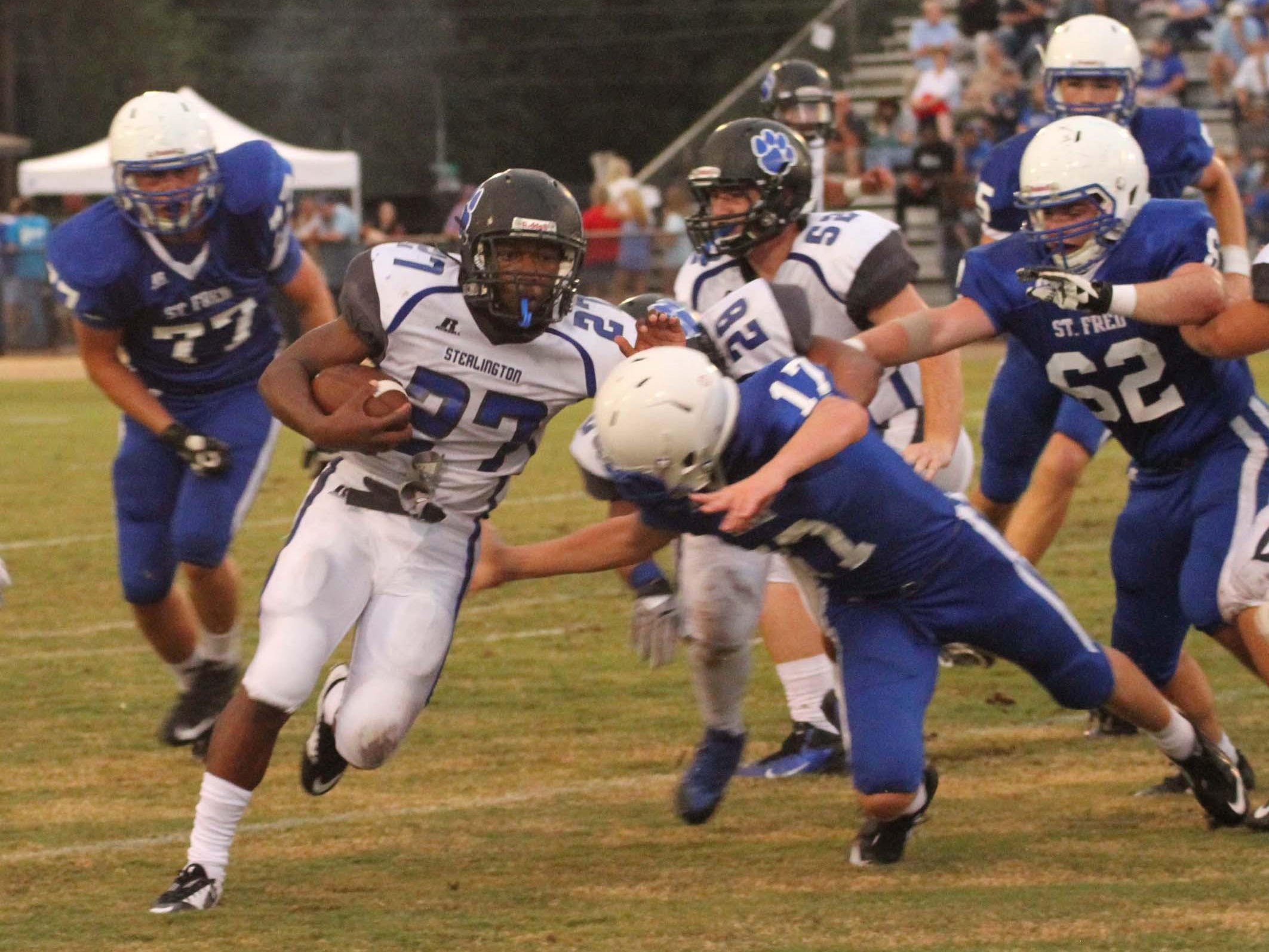 Sterlington running back Devantae Douglas (27) rushed for 162 yards and thre touchdowns last week against Oak Grove.