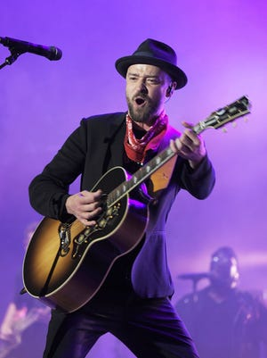 Justin Timberlake performs Sept. 23 at the Pilgrimage Music & Cultural Festival at The Park at Harlinsdale in Franklin, Tenn. Timberlake, who will perform Feb. 4 during the halftime show at Super Bowl LII in Minneapolis, announced his Man of the Woods tour beginning in March. There are four shows scheduled for Florida.