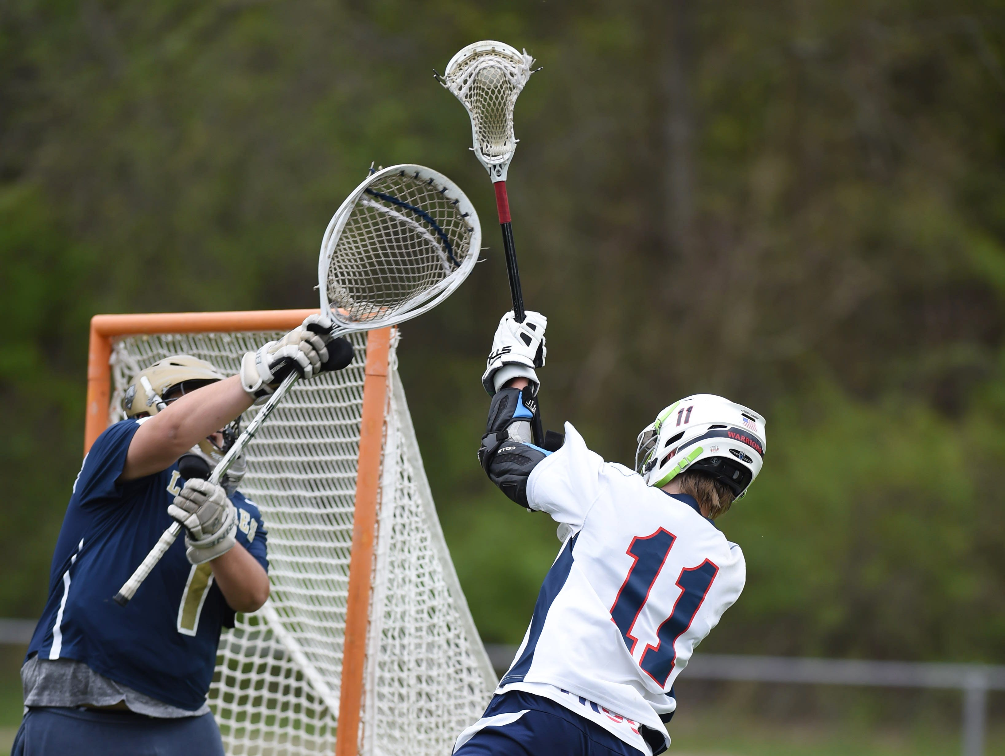 Wappingers' James Pratt attacks the Our Lady of Lourdes goal on Thursday.