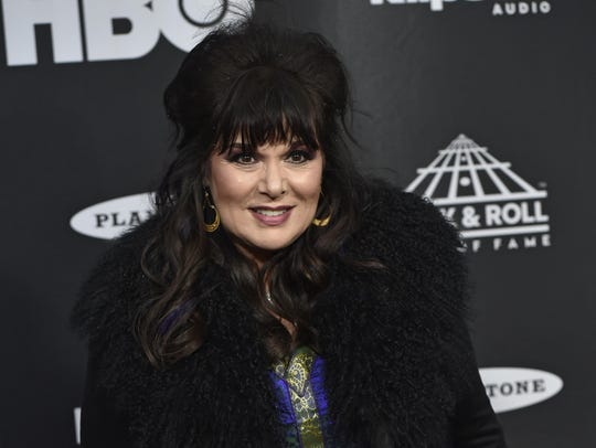 Ann Wilson, from the band Heart, arrives on the red