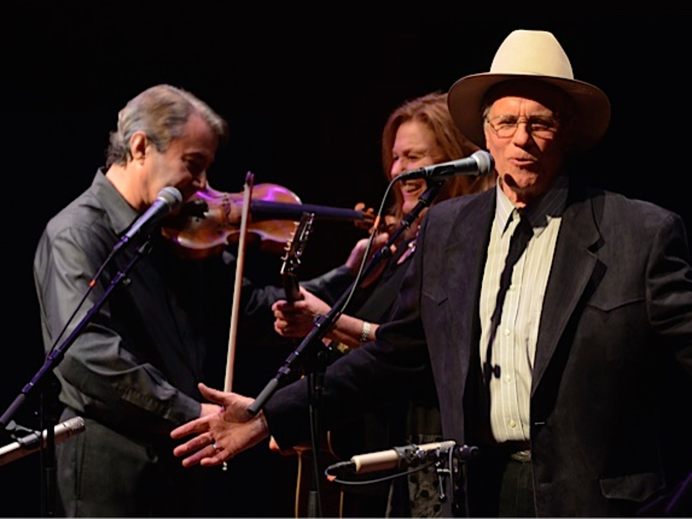 The Robin and Linda Williams concert on Dec. 8 2014 at the Forbes Center at James Madison University in Harrisonburg, where Daniel Heifetz made a cameo appearance at a benefit holiday concert for WMRA.