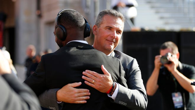 Urban Meyer and  J.T. Barrett will try to stay perfect against Michigan on Saturday. Meyer can become 6-0 as OSU coach in the rivalry and Barrett can become the first starting quarterback at OSU to go 4-0.