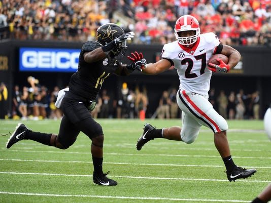 3bfd5fdeb1e No. 6 Georgia Bulldogs run for 423 yards
