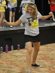 Jennifer Suhr teaches choreography during New York,