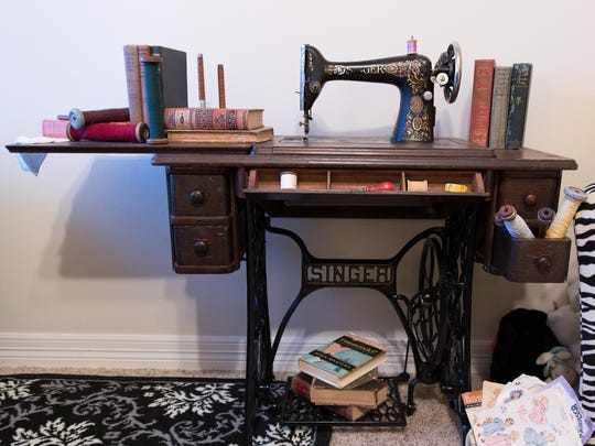 An old Singer treadle sewing machine fixed up by Buford.
