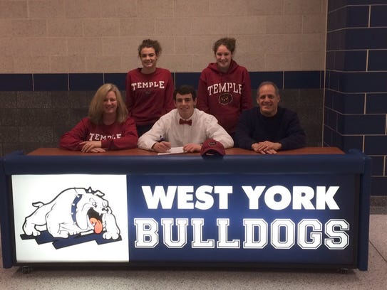 West York's Nick Sarver signed to play at Temple University.