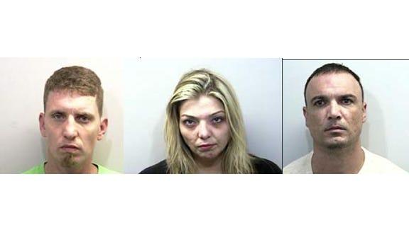 From left, Joshua Carr, Kristina Jenkins and Douglas Palladino