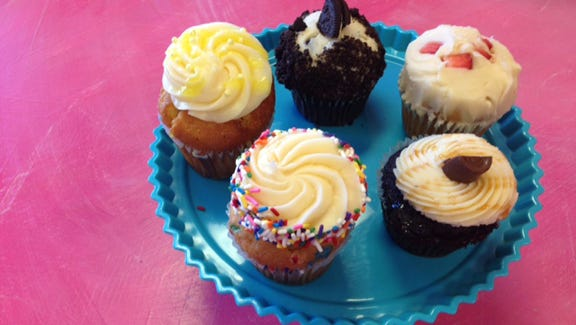 Oh Snap! Cupcakes & Gourmet Bakery offers a variety of small sweet treats.