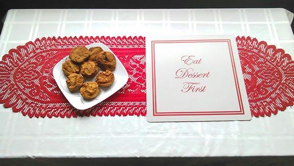Paleo Coconut Christmas muffins.