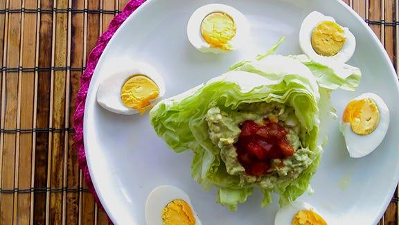 Egg Salad avocado wrap