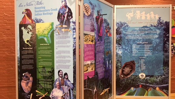Our Native Paths, Honoring Southeastern Creek Indian Heritage Exhibit, Voices of Pensacola.