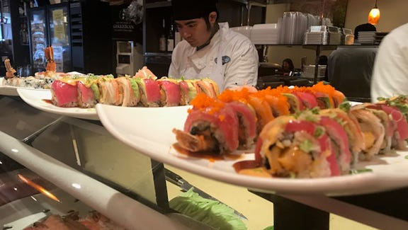 Sushi crafted especially for you at Master Joe's.